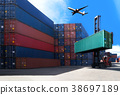 Logistic Import Export Background. 38697189