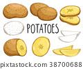 土豆 马铃薯 抠图 38700688
