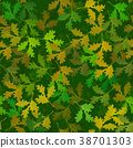 Seamless Pattern with Leaves 38701303