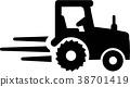 tractor, icon, pictogram 38701419