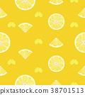 Lemon, orange fruits seamless pattern background 38701513