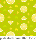 Lemon, orange fruits seamless pattern background 38701517