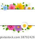 Card With Flowers White Background 38702426
