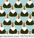 japanese onigiri pattern 38702450