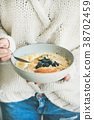 woman, sweater, oatmeal 38702459