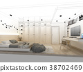 abstract sketch design of interior bedroom 38702469