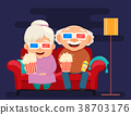 Grandparents day greeting card. 38703176