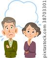 年長夫婦焦慮拷貝空間 38703301