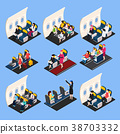 Airplane Passengers Composition Set 38703332