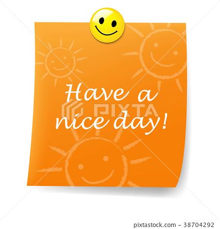 Orange Blank Sticky Note With Yellow Push Pin Stock Illustration 38704292 Pixta