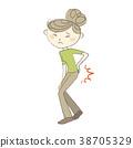 요통으로 고통받는 여성 질병 증상 의료 38705329