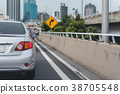 traffic jam  with row of cars 38705548