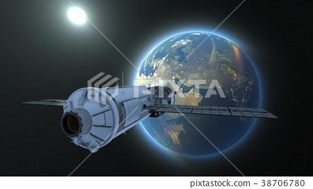 人造卫星 空间 宇宙的 38706780