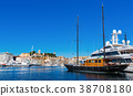 Port of Cannes and boats at the French Riviera 38708180