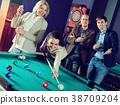 people having pool game 38709204