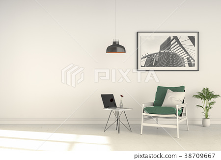 Interior living room with armchair. 3D rendering 38709667