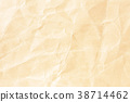 Crumpled pale yellow paper texture 38714462