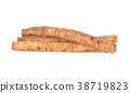 fresh burdock root or Gobo on white background 38719823