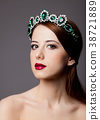 Beautiful princess with tiara  38721889