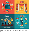 theatre, vector, set 38722872