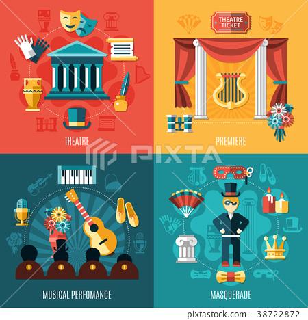Theatre Icon Set 38722872