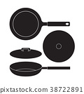 Frying Pan icon Vector Illustration. Flat Sign 38722891