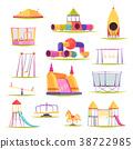 Children Playground Elements Set 38722985