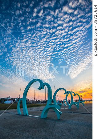 台灣高雄茄萣情人碼頭Asia Taiwan Kaohsiung Terminal 38723614