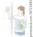 창문을 닦는 여성 38723883