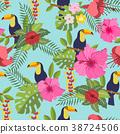 leaves, tropical, flower 38724506