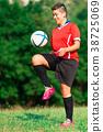 Woman footballer 38725069