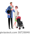 Parenting / working together couple illustration 38726846
