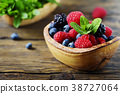 Mix of summer berries and mint 38727064