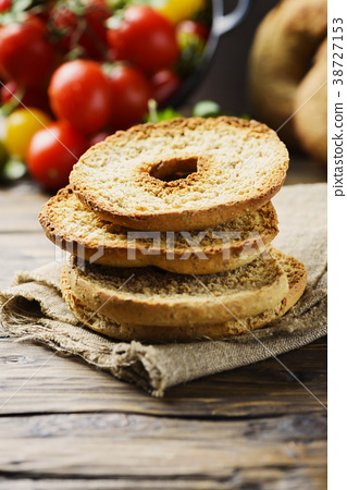 Traditional italian bread frisella  38727153