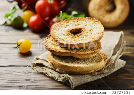 Traditional italian bread frisella  38727155