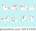 Set of cute unicorns and elements for your design 38727400