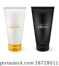 Realistic plastic tubes for cosmetic products. 38728011