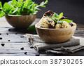 Italian ice cream tiramisu with coffee and mint 38730265