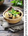 Italian ice cream tiramisu with coffee and mint 38730269