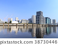 도시 풍경 (도쿄, 시나가와 씨 사이드 여름) 38730446