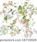 ดอกไม้,สีน้ำ,ไร้รอยต่อ 38730606