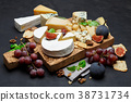 Various types of cheese - parmesan, brie 38731734