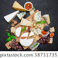 Various types of cheese - parmesan, brie 38731735