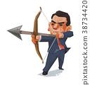 Businessman and arrow, Business concept. 38734420