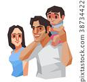Family, Vector illustration. 38734422