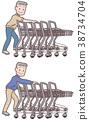 高级收集购物车 38734704