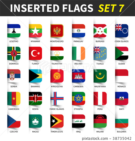 All flags of the world set 7 . 38735042