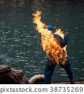 Fire stunning fighter man burn 38735269