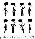 Stick figure couple dialog set 38736976