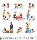 icon, set, robot 38737813